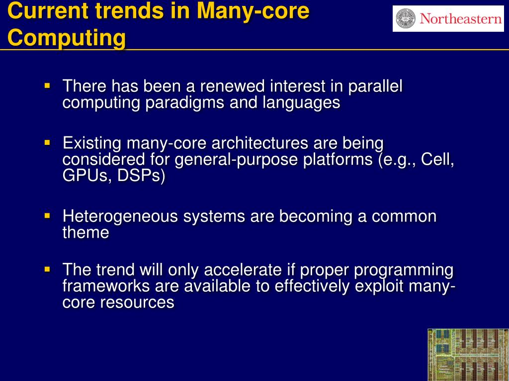 Current trends in Many-core Computing