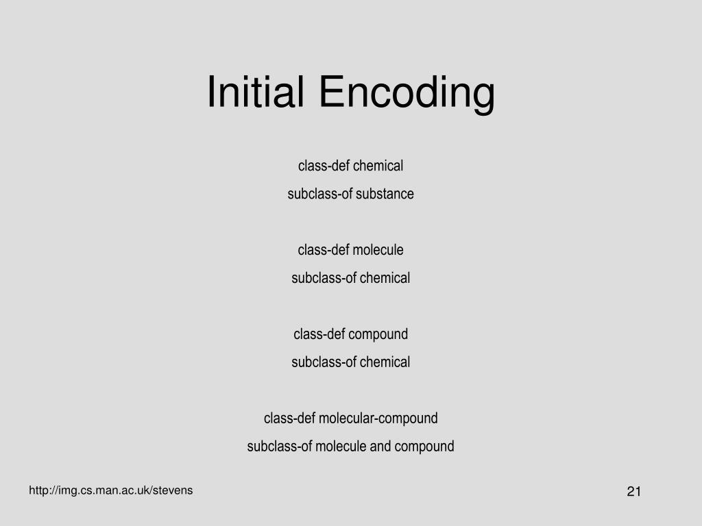Initial Encoding