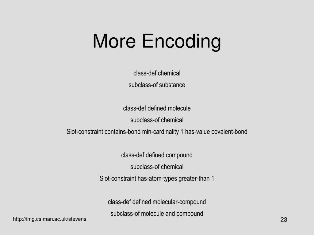 More Encoding