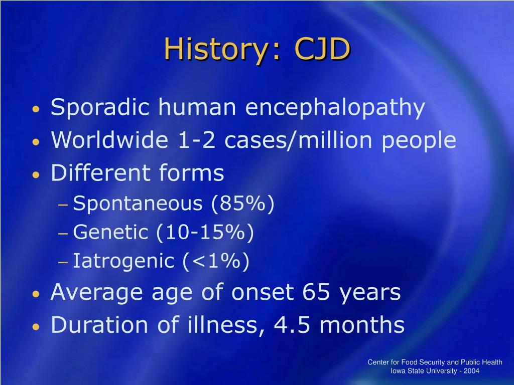 History: CJD