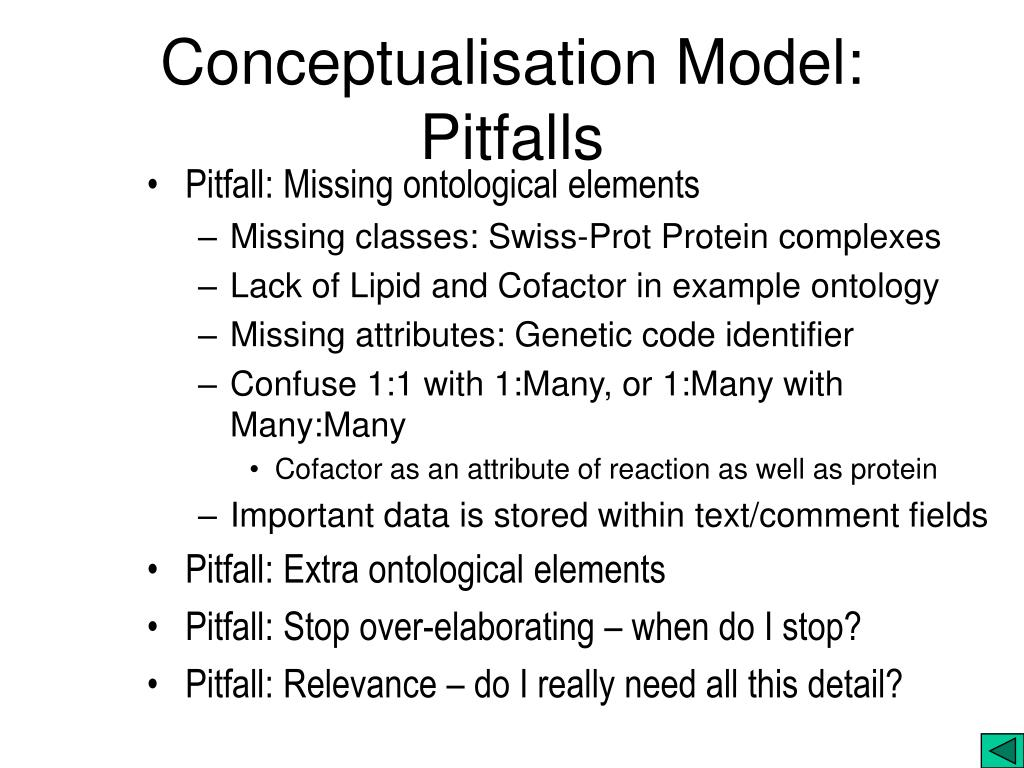 Conceptualisation Model: