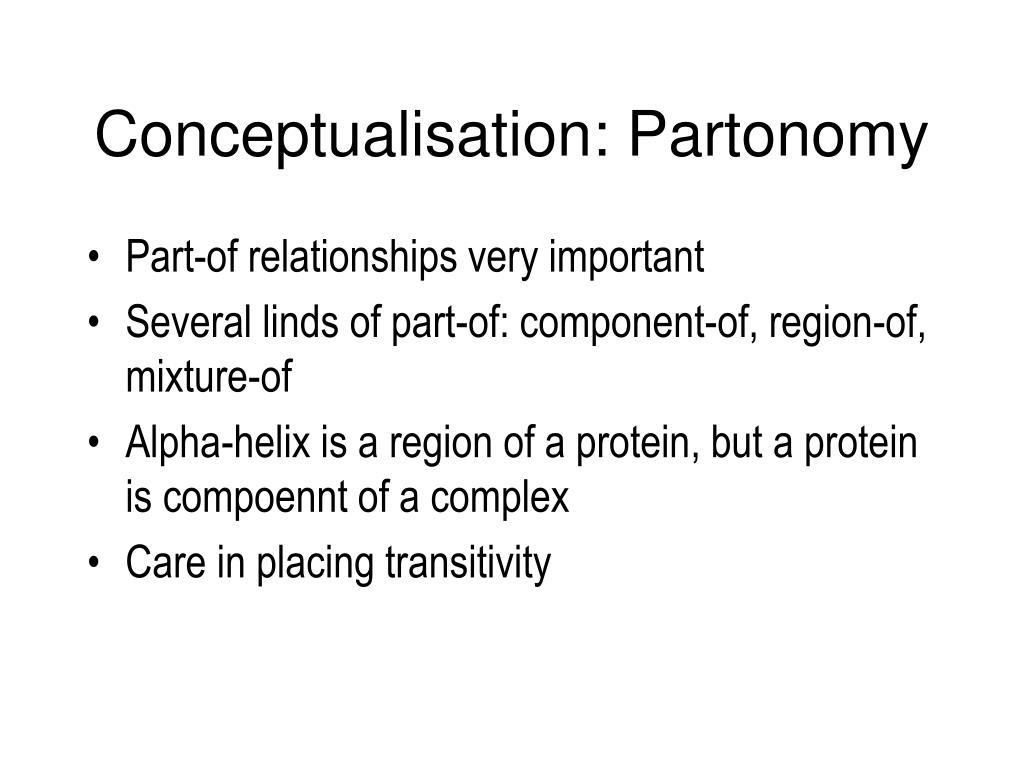 Conceptualisation: Partonomy