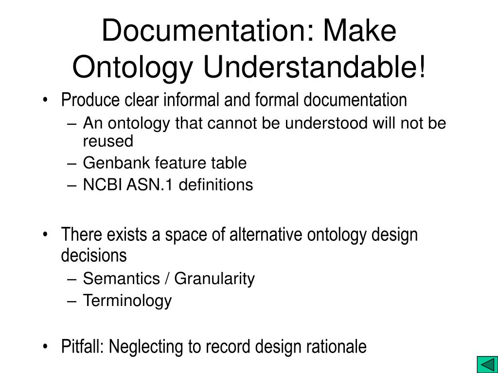 Documentation: Make Ontology Understandable!