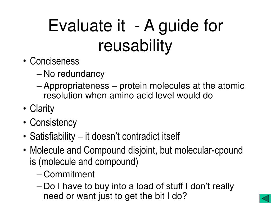 Evaluate it  - A guide for reusability