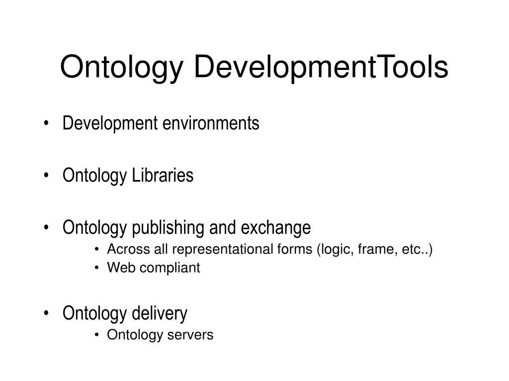 Ontology DevelopmentTools