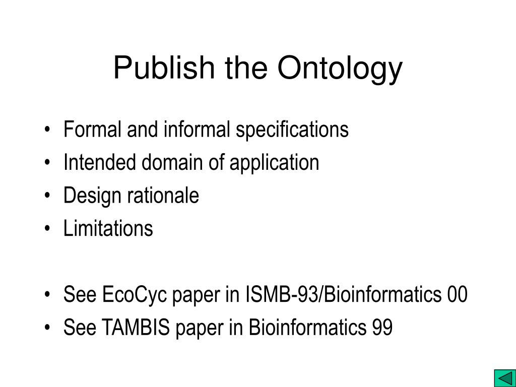 Publish the Ontology