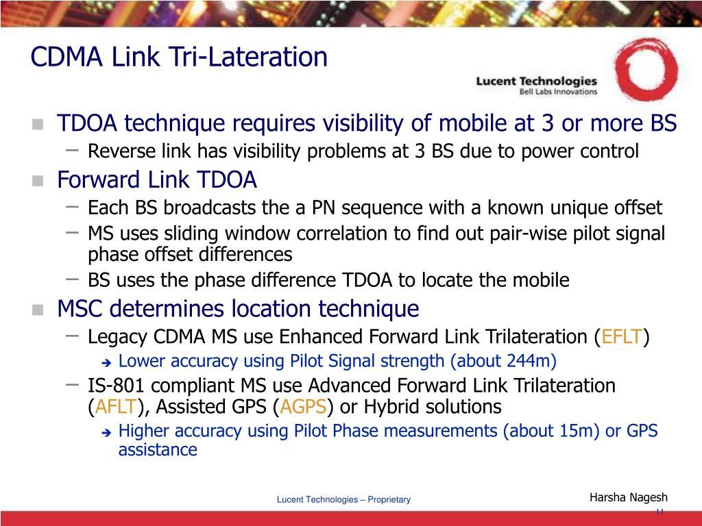 CDMA Link Tri-Lateration