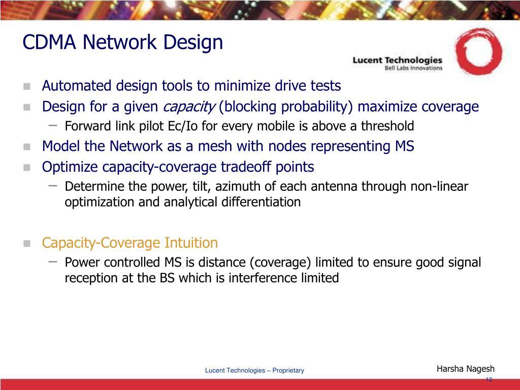 CDMA Network Design