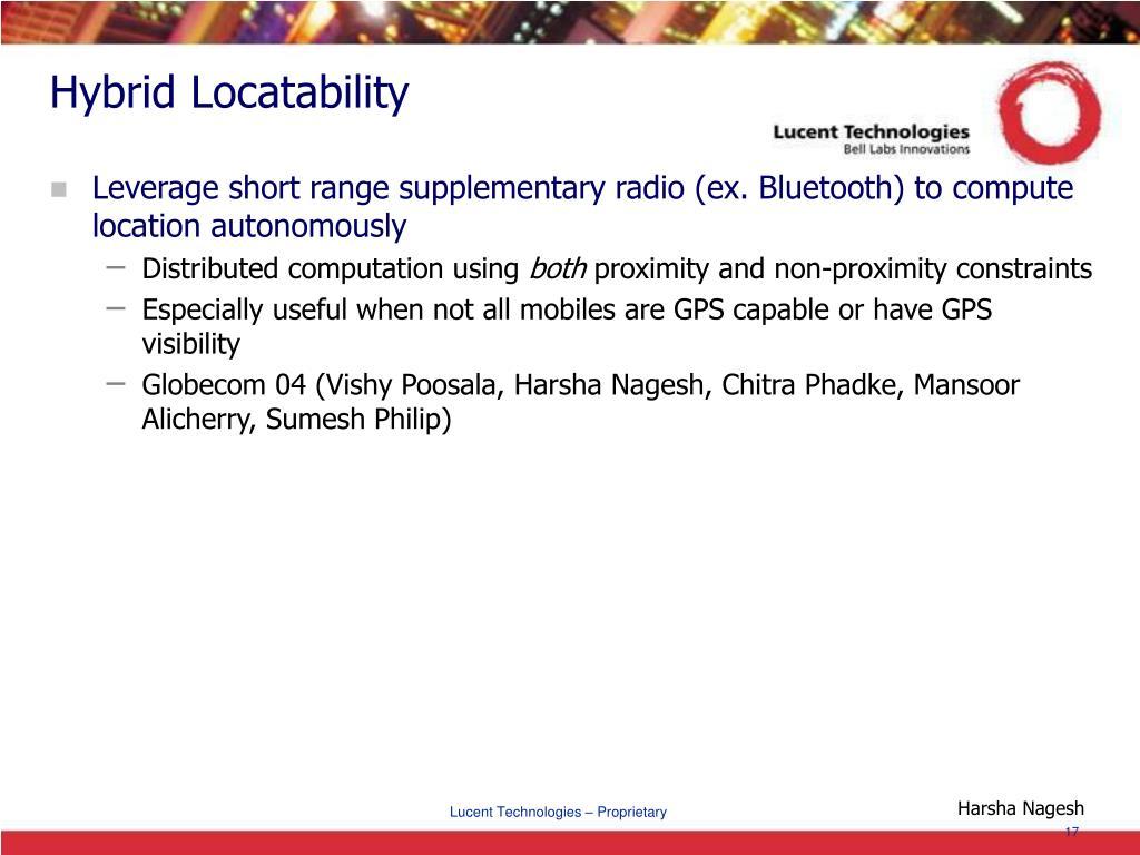 Hybrid Locatability