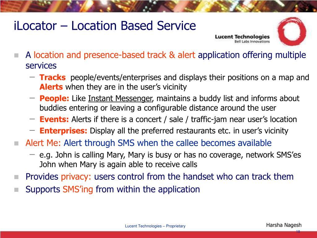 iLocator – Location Based Service