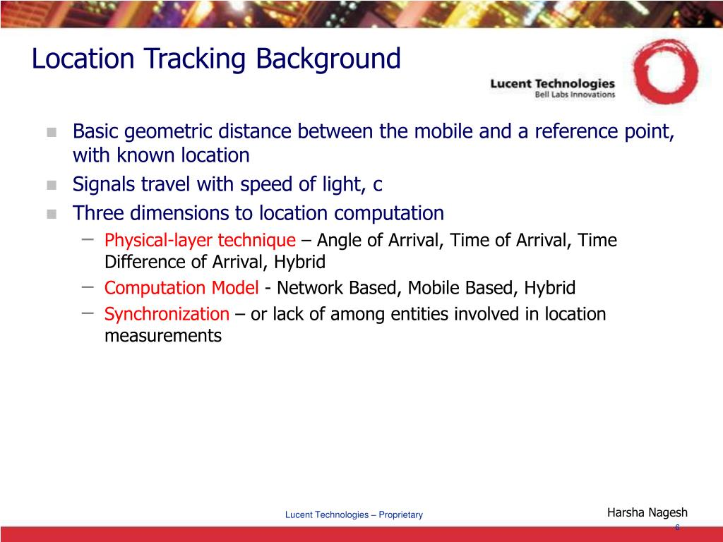 Location Tracking Background