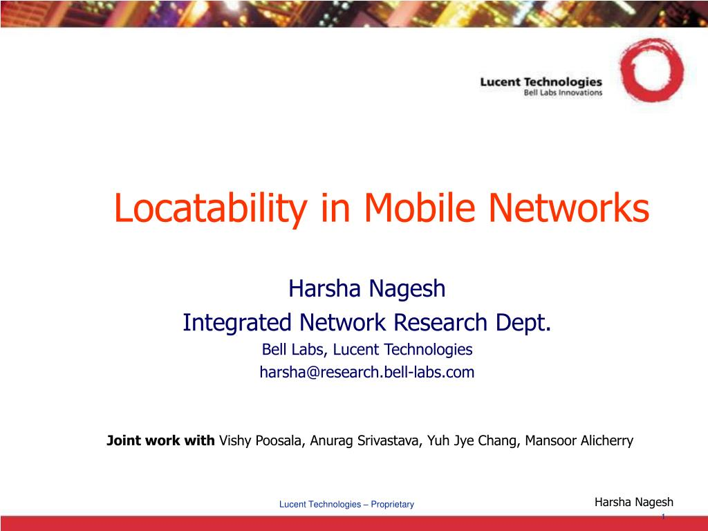 Locatability in Mobile Networks