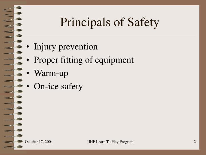 Principals of safety