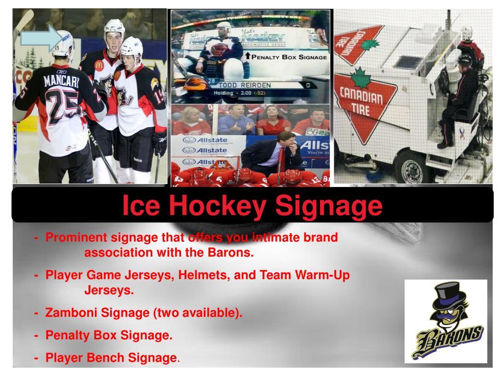 Ice Hockey Signage