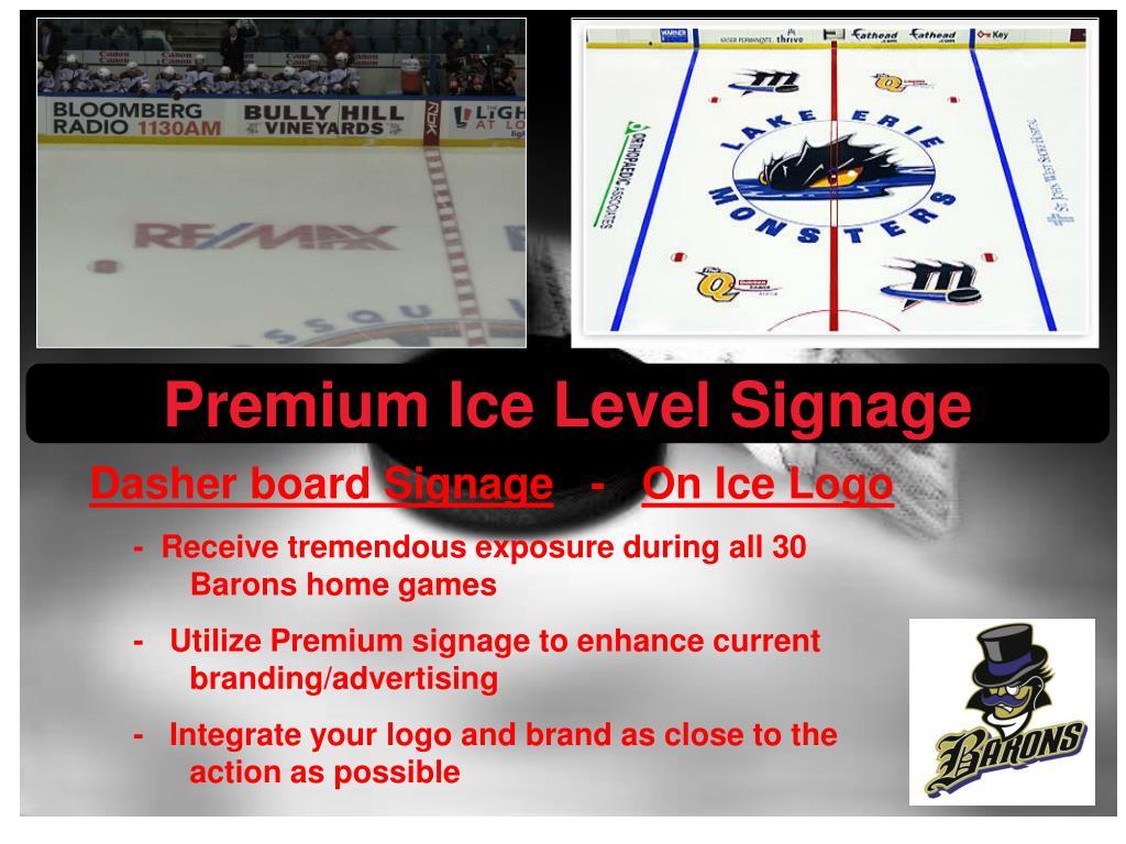 Premium Ice Level Signage