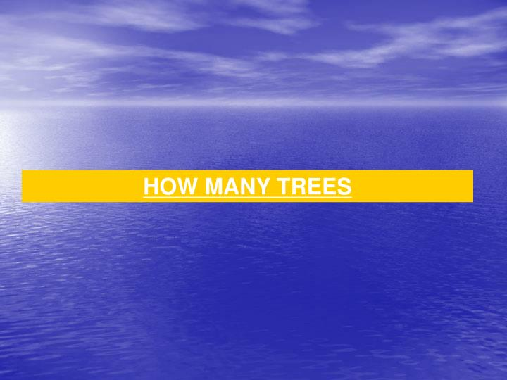 HOW MANY TREES