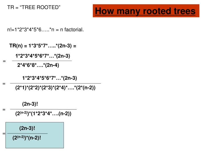 "TR = ""TREE ROOTED"""