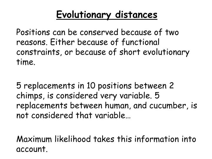 Evolutionary distances