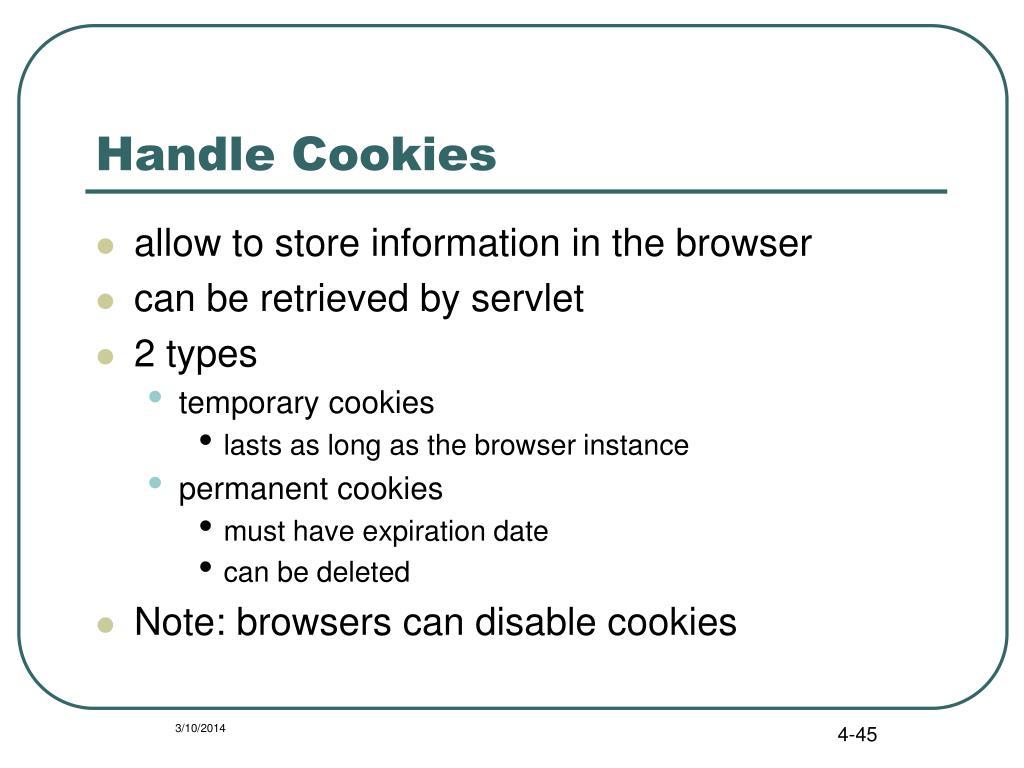 Handle Cookies