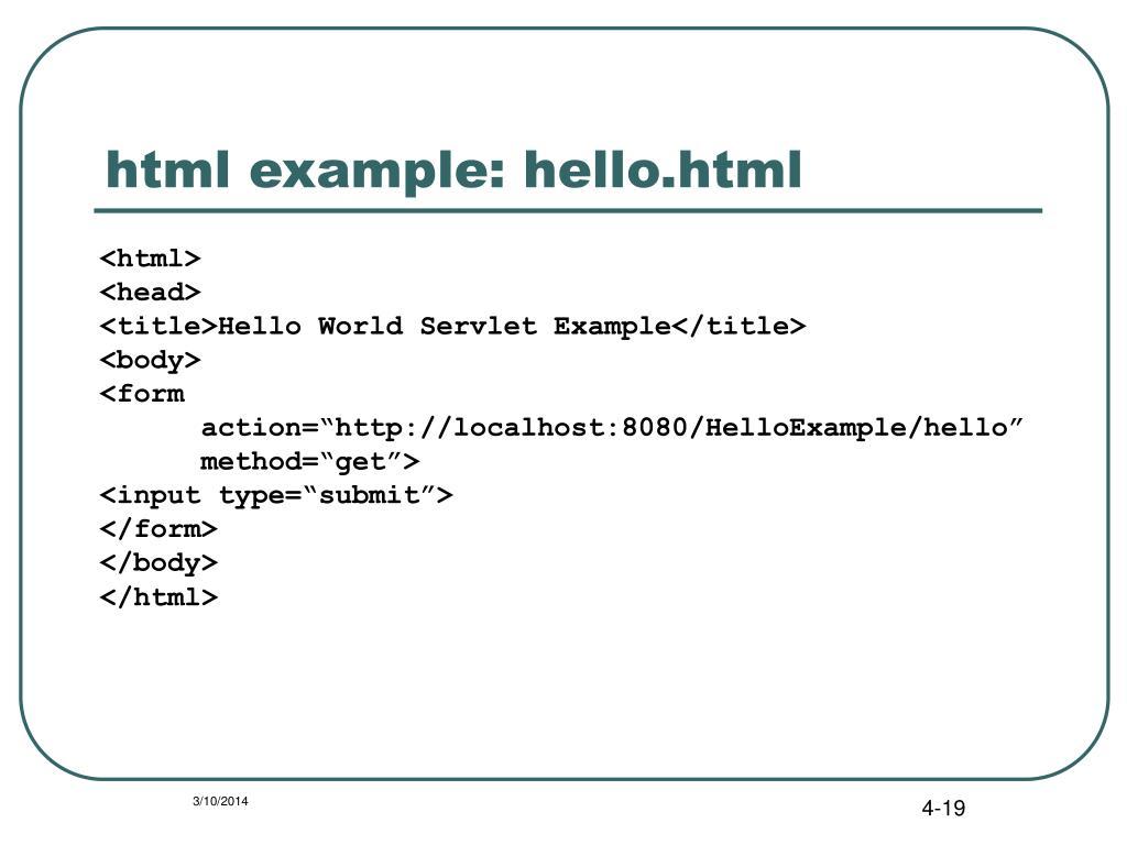 html example: hello.html