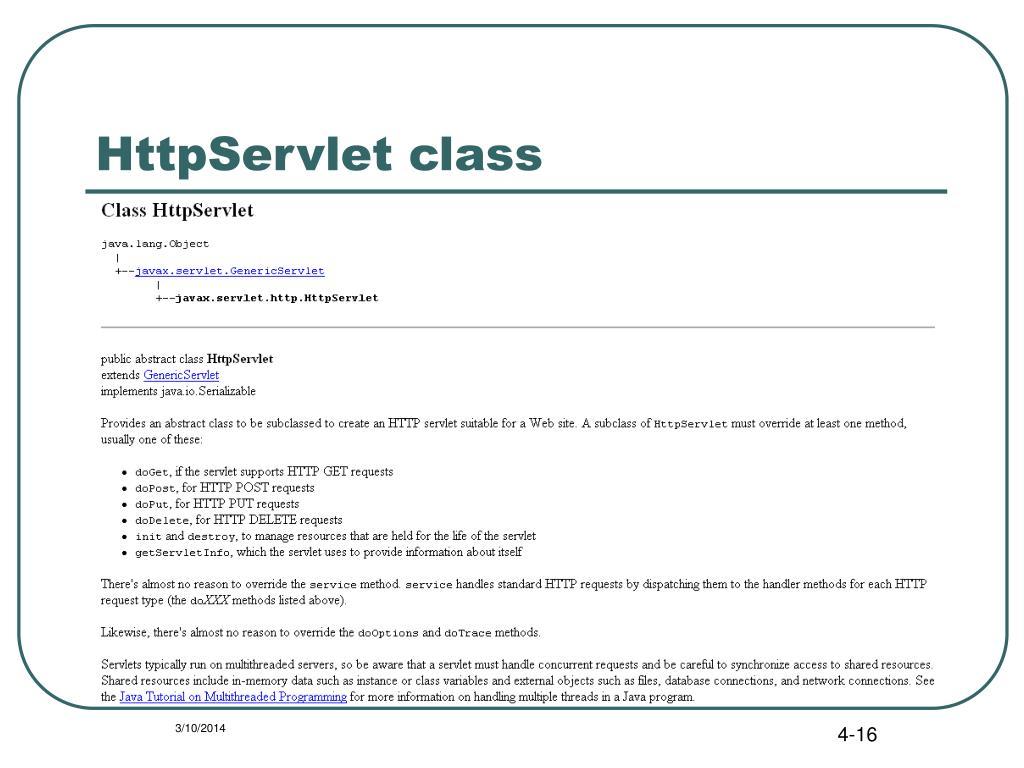 HttpServlet class