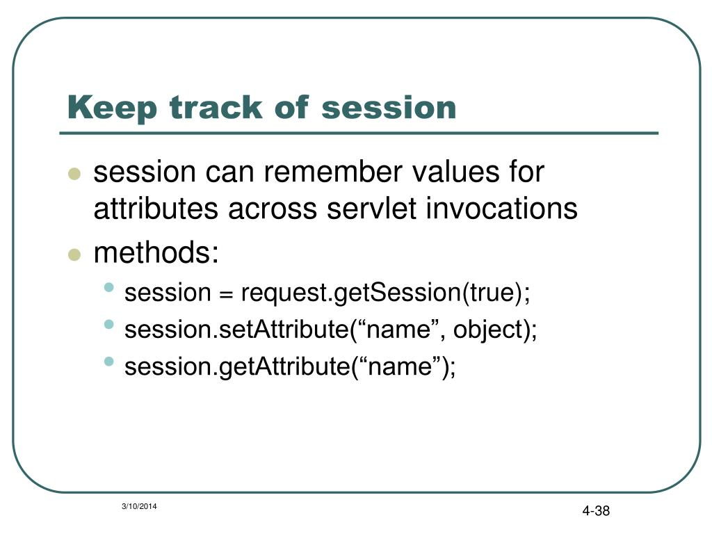 Keep track of session