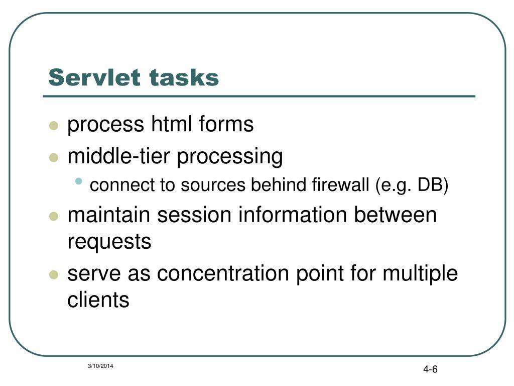 Servlet tasks