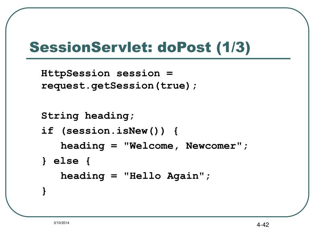 SessionServlet: doPost (1/3)
