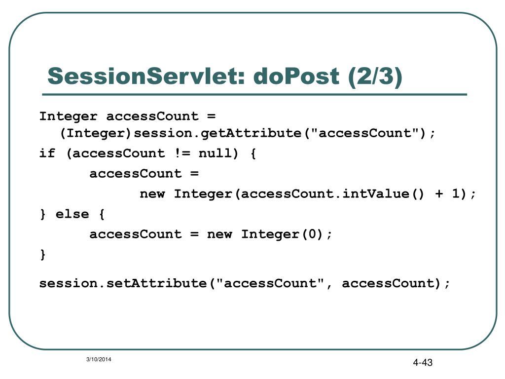 SessionServlet: doPost (2/3)