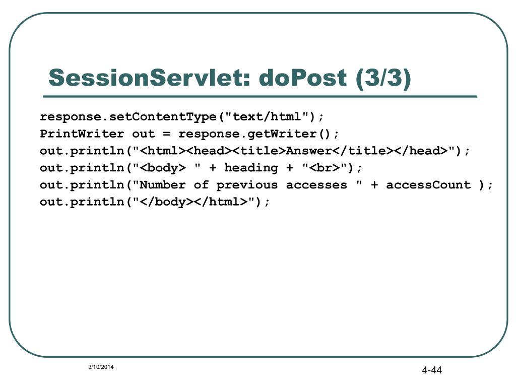 SessionServlet: doPost (3/3)