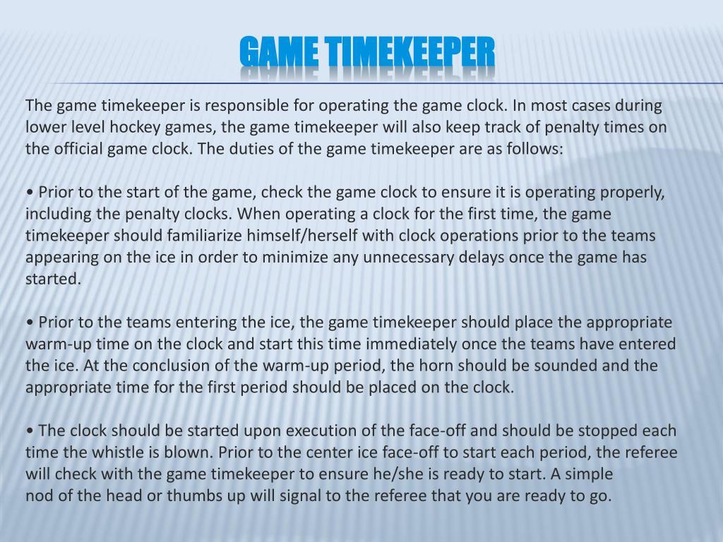 Game Timekeeper