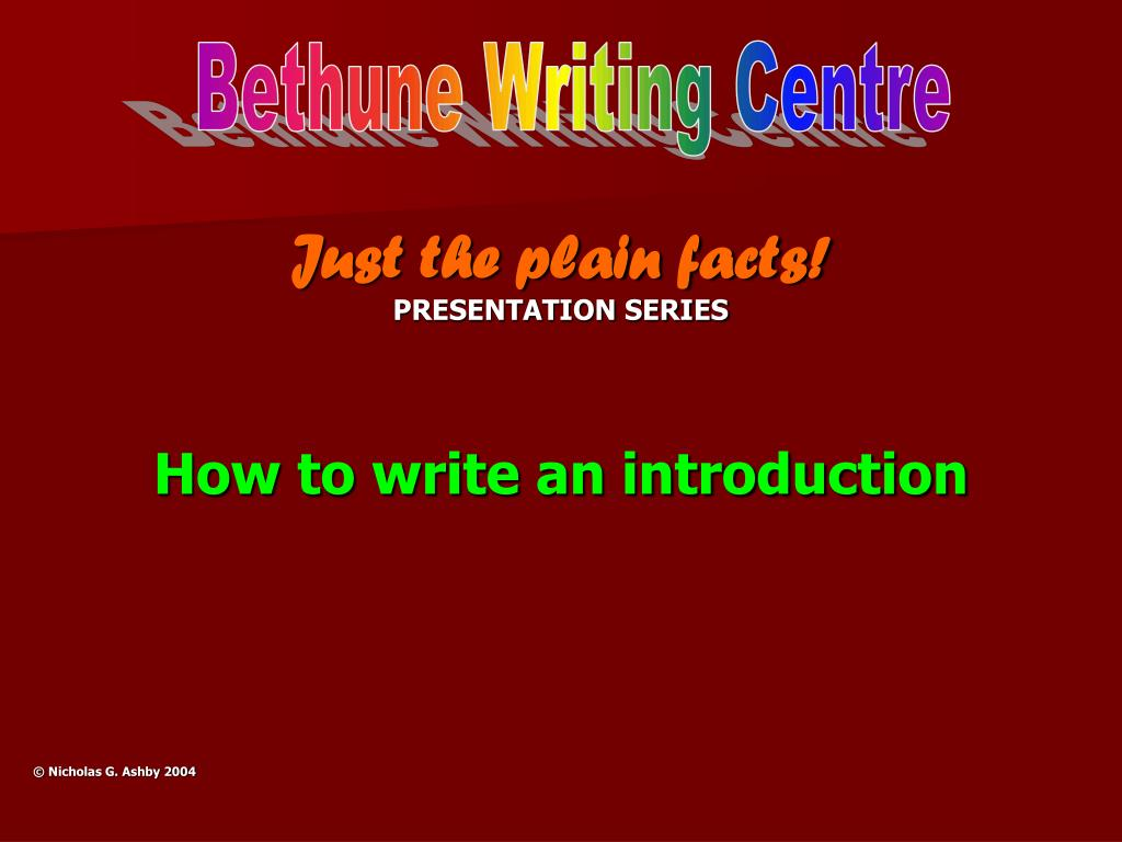 Bethune Writing Centre