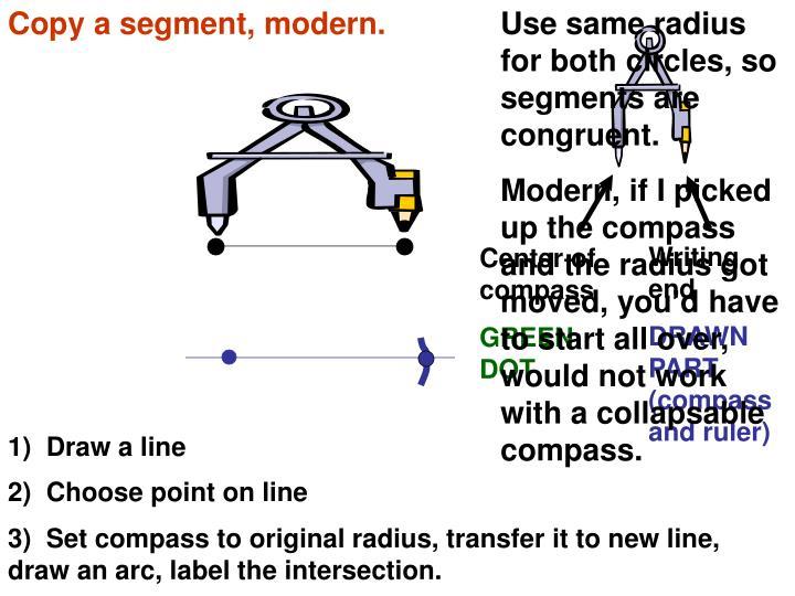 Copy a segment, modern.