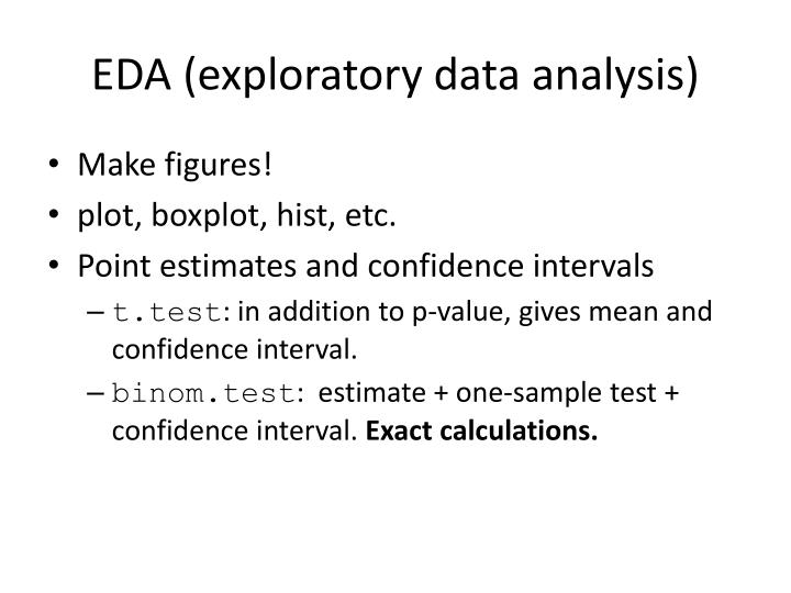 EDA (exploratory data analysis)