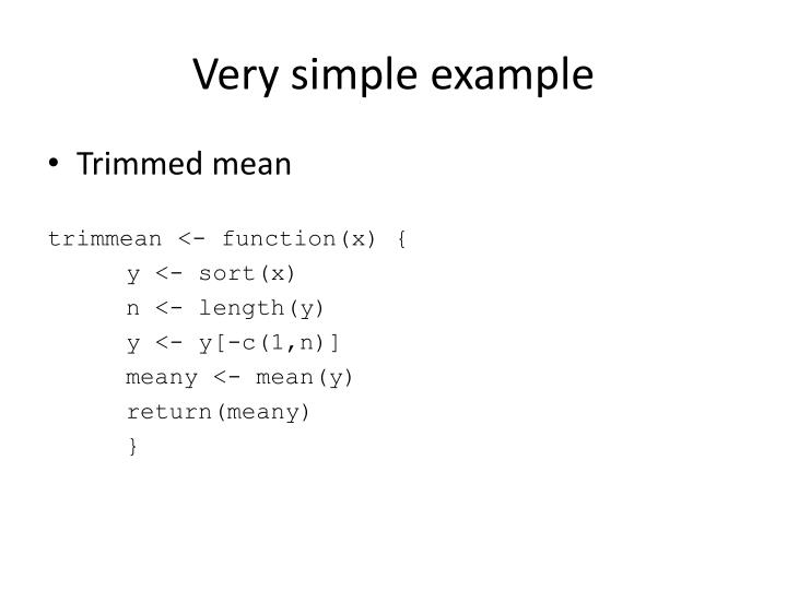 Very simple example