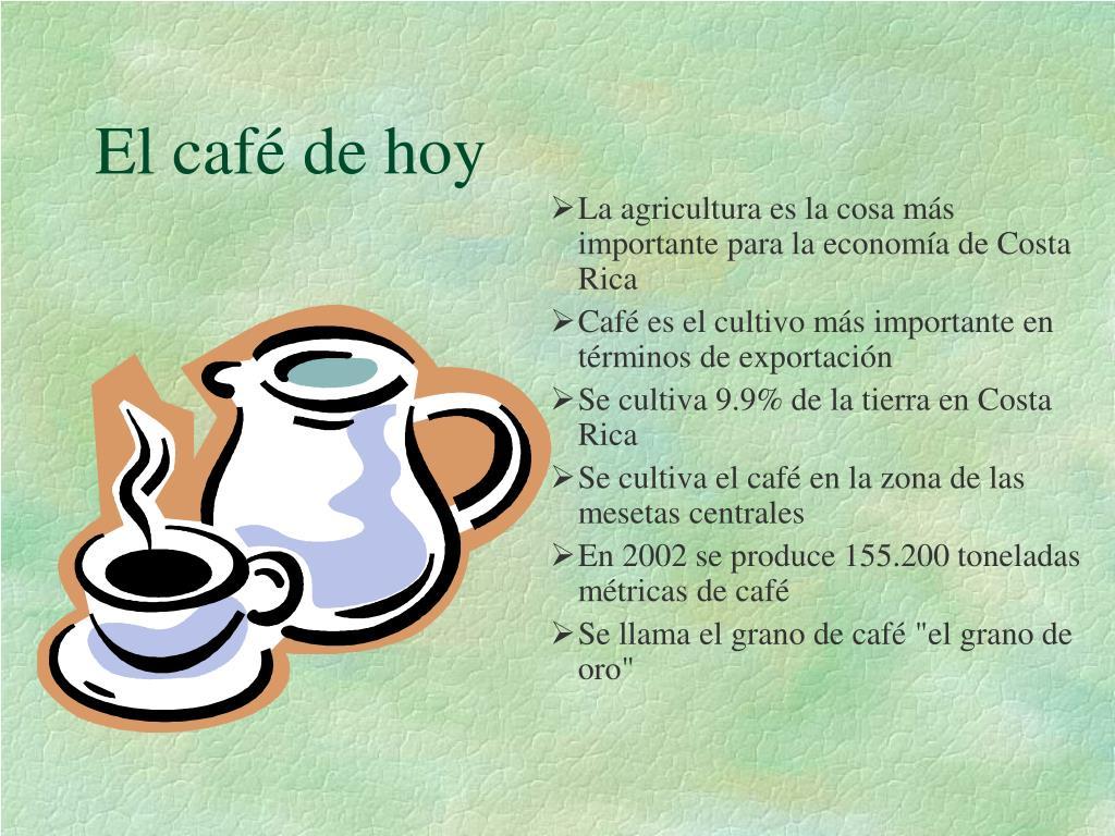 El café de hoy