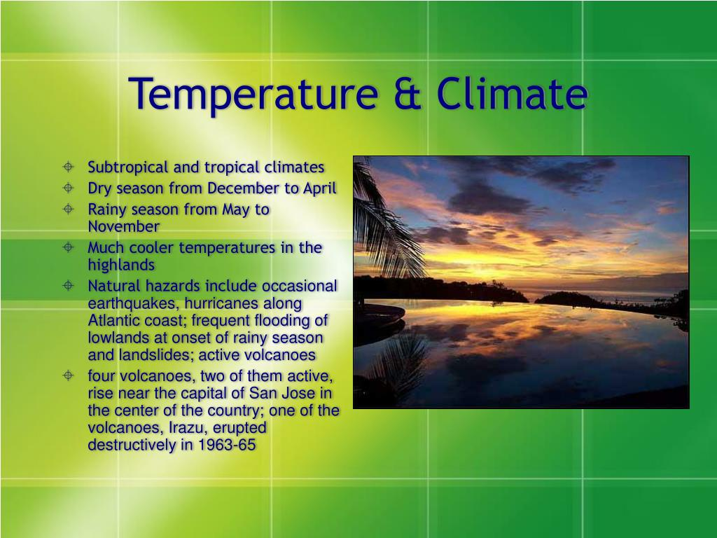 Subtropical and tropical climates