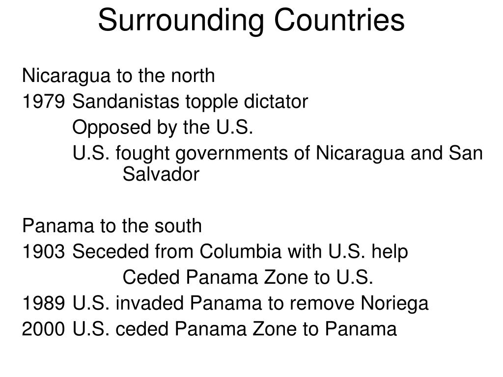 Surrounding Countries