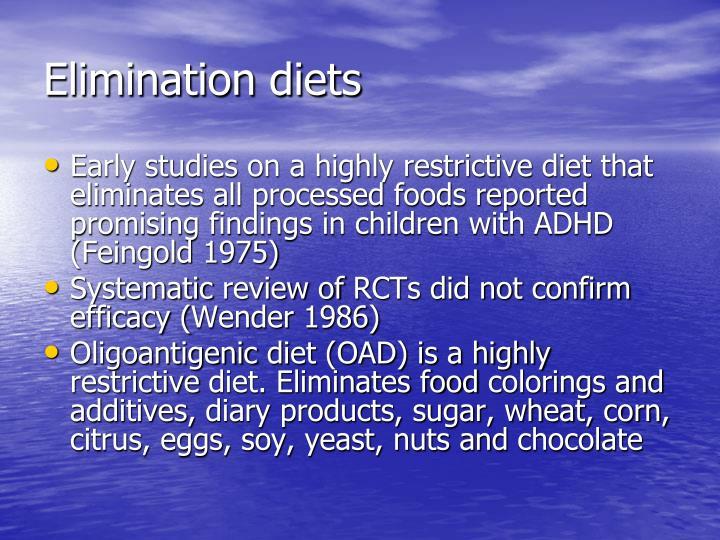 Elimination diets