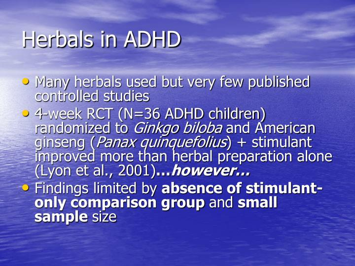 Herbals in ADHD