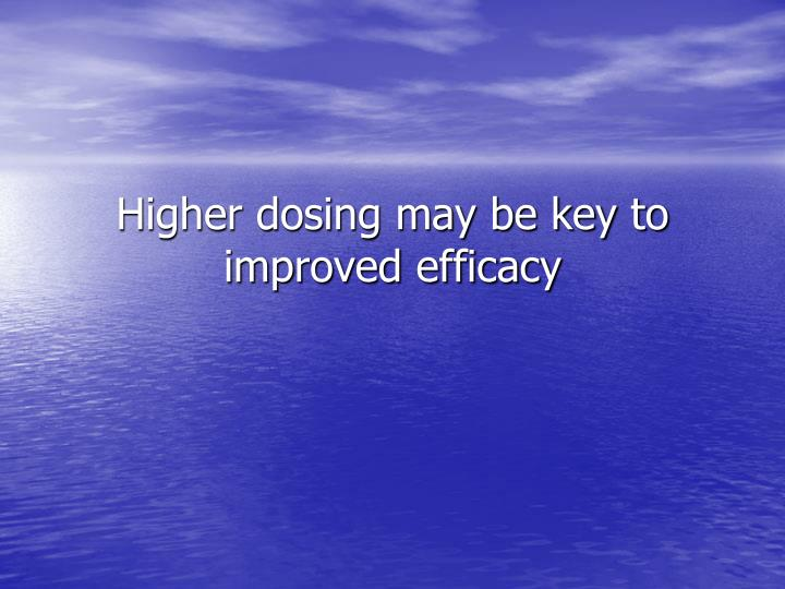 Higher dosing may be key to improved efficacy