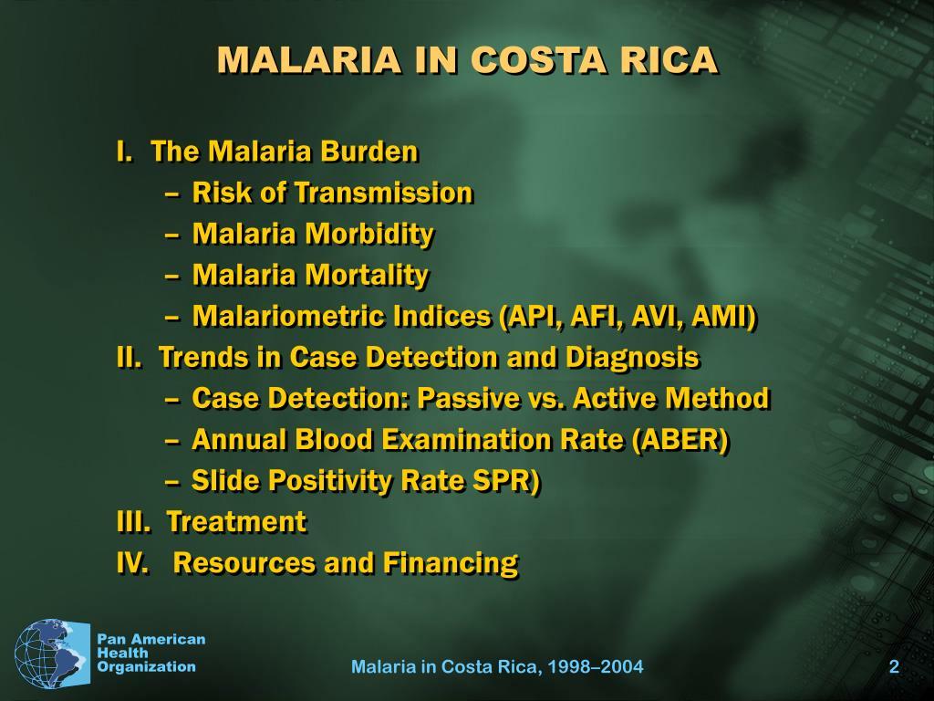 MALARIA IN COSTA RICA