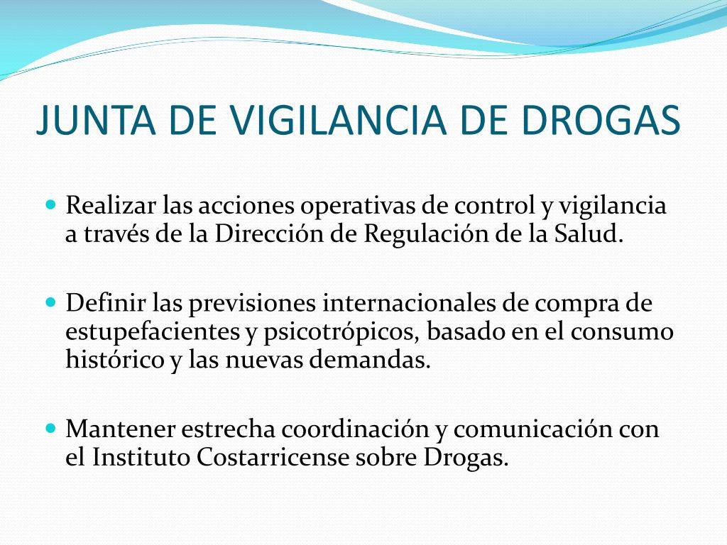JUNTA DE VIGILANCIA DE DROGAS