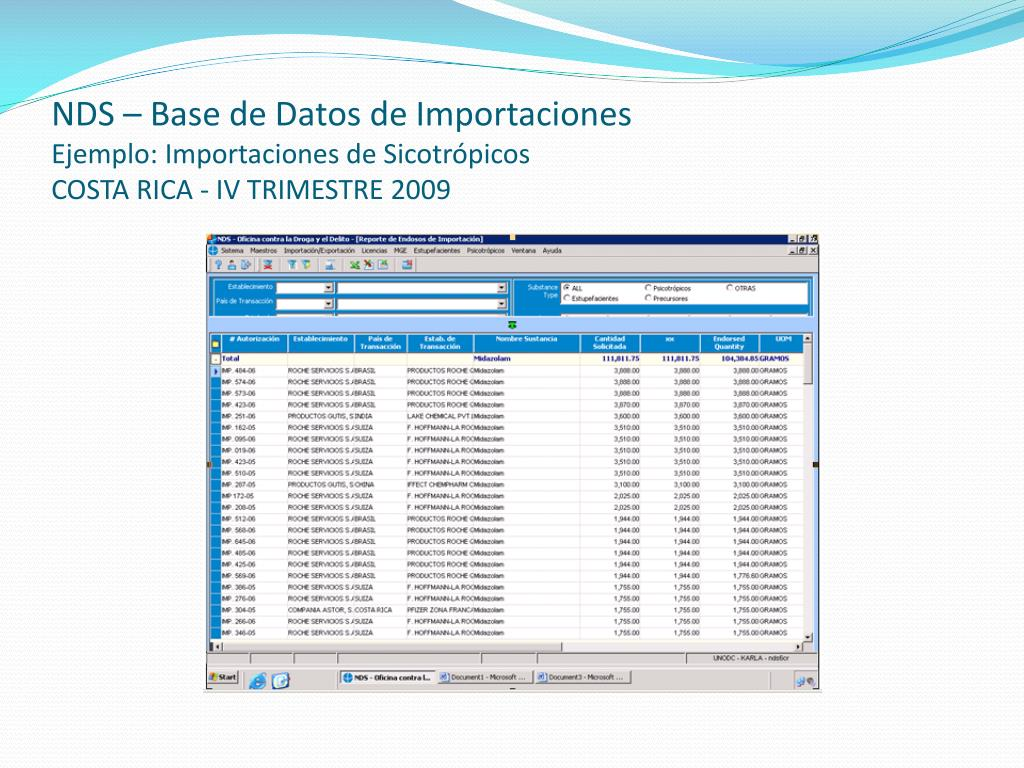 NDS – Base de Datos de Importaciones
