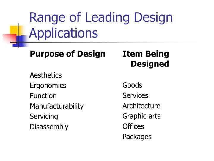 Purpose of Design