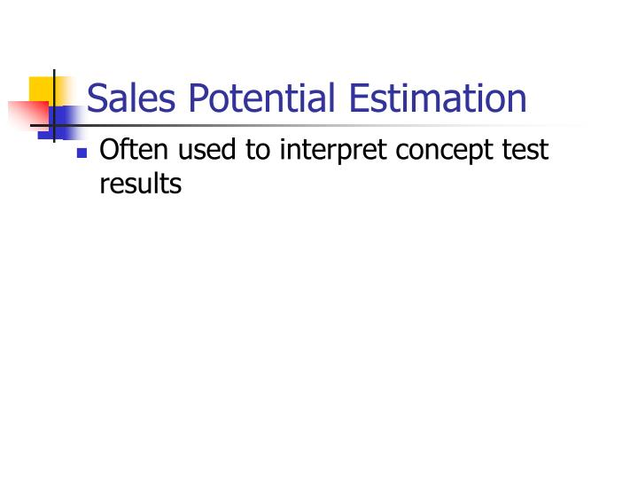 Sales Potential Estimation