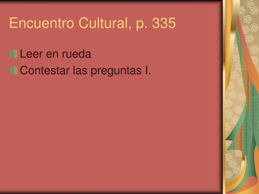 Encuentro Cultural, p. 335