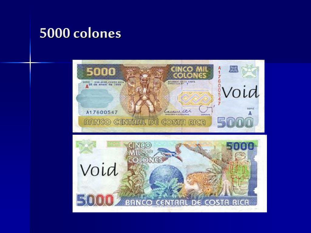 5000 colones