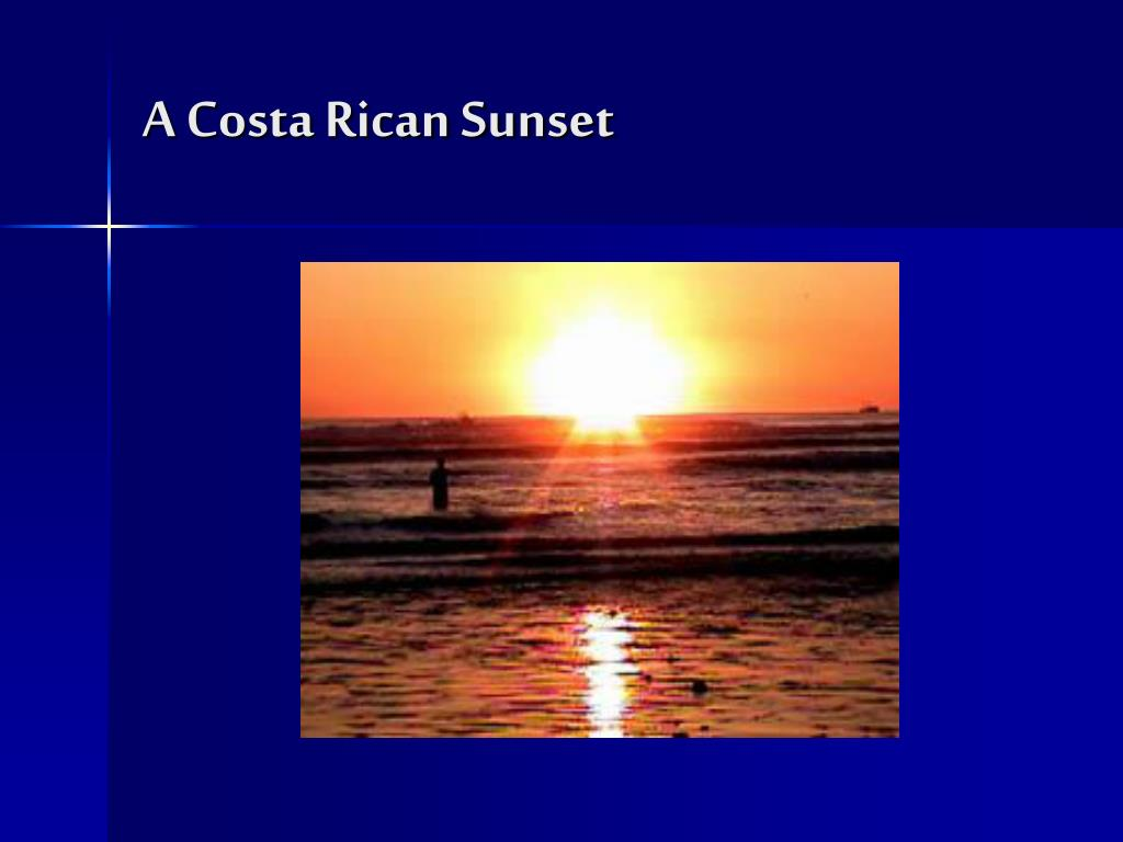 A Costa Rican Sunset