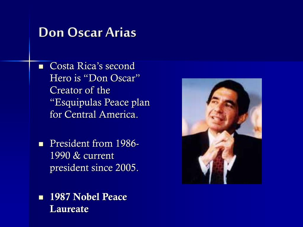 Don Oscar Arias